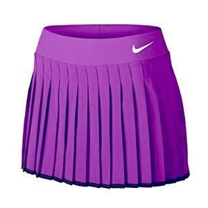 NIKE Victory Court pleated mini Skirt RARE Purple / Black / white details